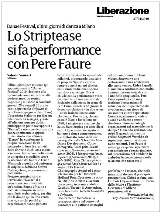 Pere faura striptease press for Luce di pera